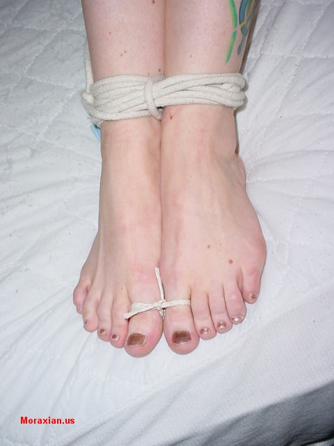 Toe-Tied and Ball Gagged