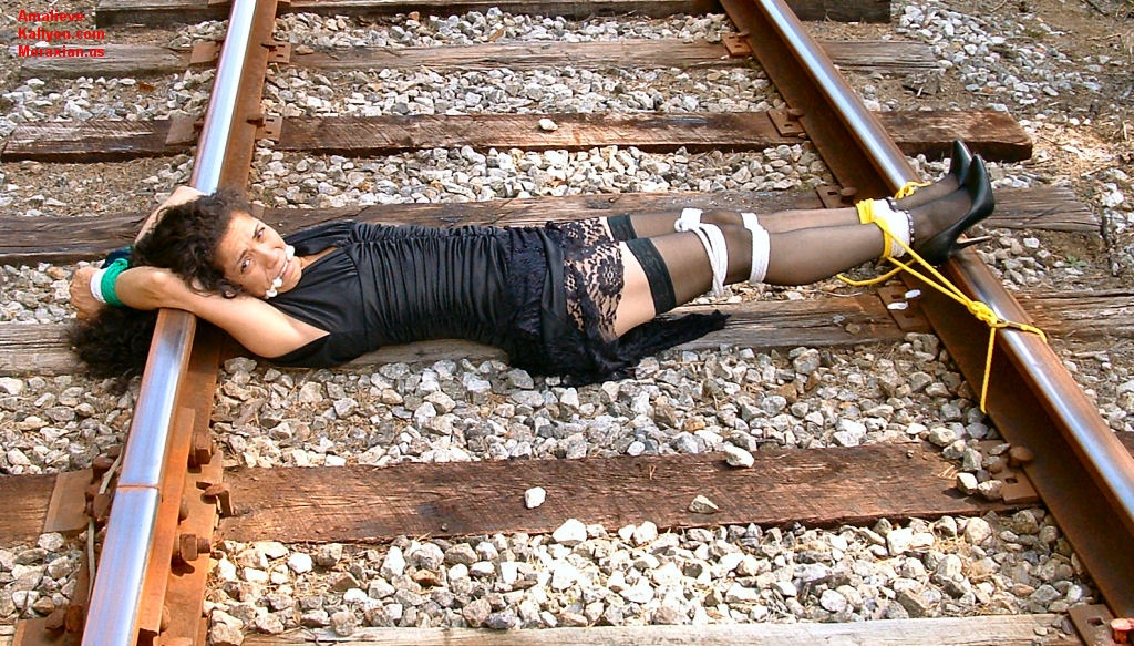 Apologise, Girl tied to tracks think